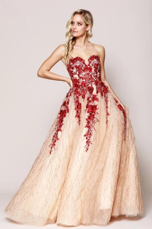 Sweetheart Neck Strapless Evening Dress