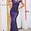 Thumbnail: JOVANI Navy Off the Shoulder Sweetheart Neckline Prom DressJVN4296