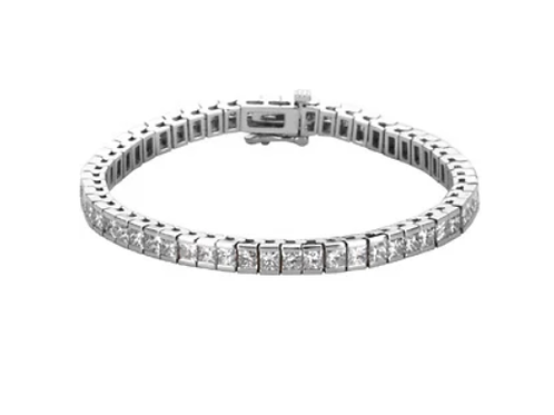 14K White Gold 9 1/6 CTW Diamond Bracelet