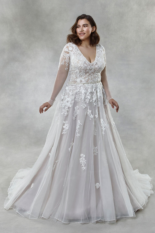 Mignon Manley 0V2008 Rosalie Omelie Curvy Bridal Gown