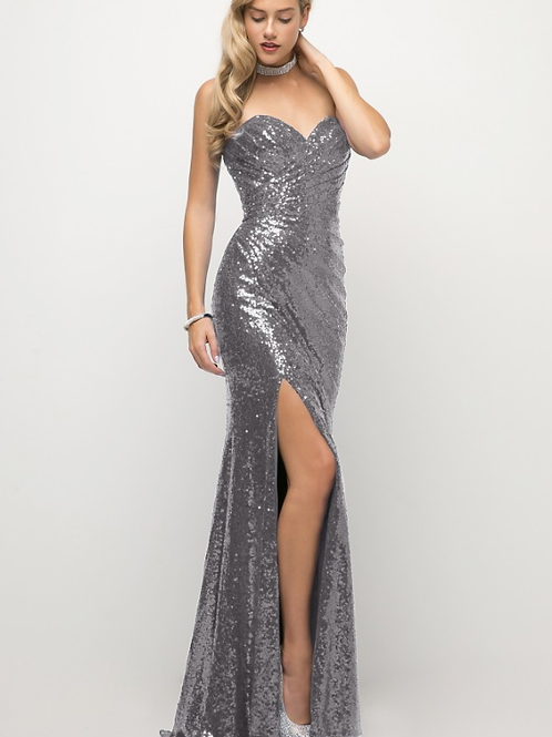 Cinderella Divine Fitted Sequin Gown