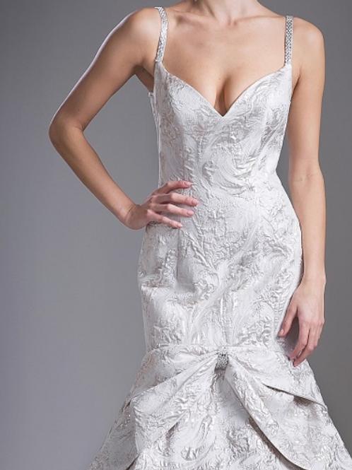 Stunning Jacquard Mermaid Gown