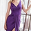 Thumbnail: Fitted stretch jersey gown with gathered belted waistline and leg slit