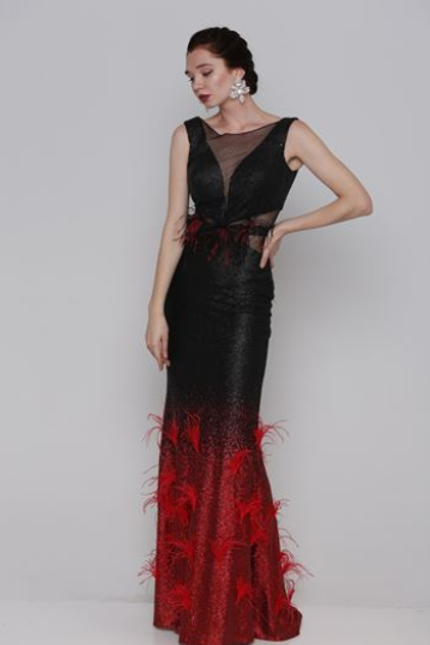 Classic French Sequined Evening Gown