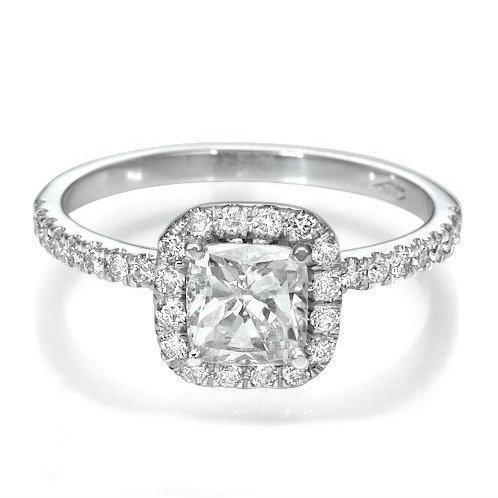 RING, DIAMOND 1 1/2 CT SOLITIARE DIAMOND 18KT GOLD