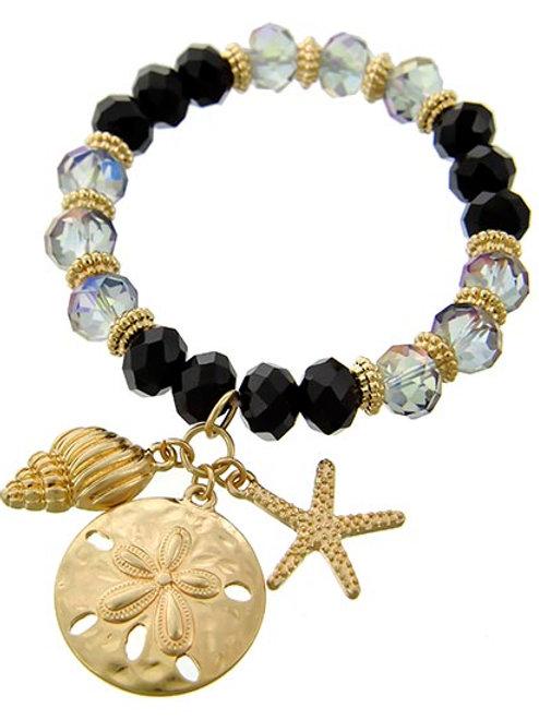 Sea Life Charm / Stretch Bracelet
