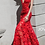 Thumbnail: JOVANI 60283 Red Plunging Neckline Embellished Dress