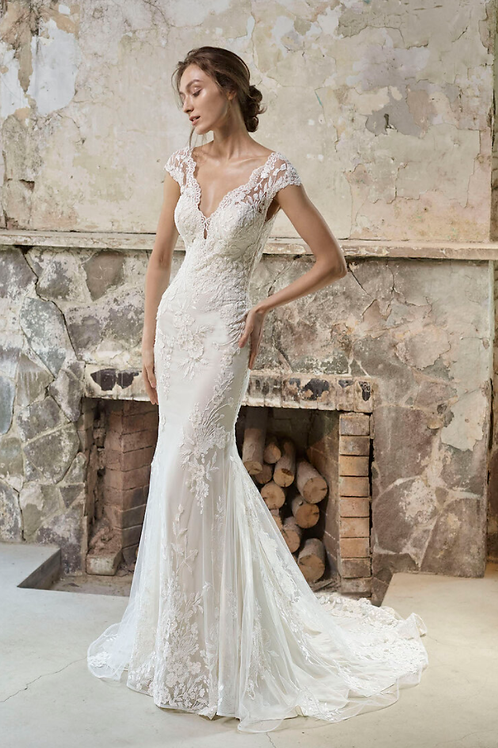 Mignon Manley OJ1773 JamieOmelieBeaded Lace Bridal Gown