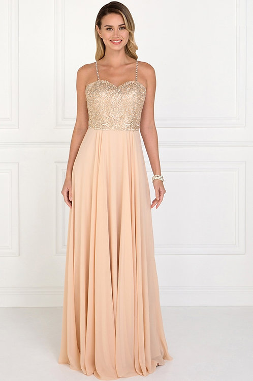 Sweetheart Evening Long Gown With Straps