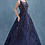 Thumbnail: Gianna Gown Bateau Neckline Vine Beaded Over Lace Ballgown