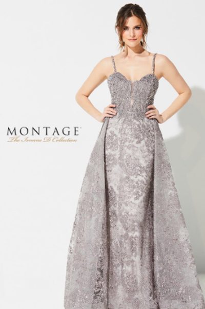Ivonne D Awe-inspiring Sleeveless Embroidered Lace Fare Gown