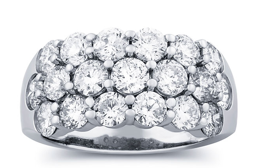 Diamond  2.95 Carat Anniversary Ring