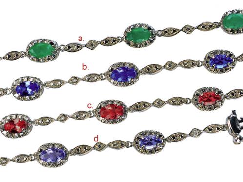 Diamond Bracelets Emerald, Sapphire, Ruby,Tanzanite