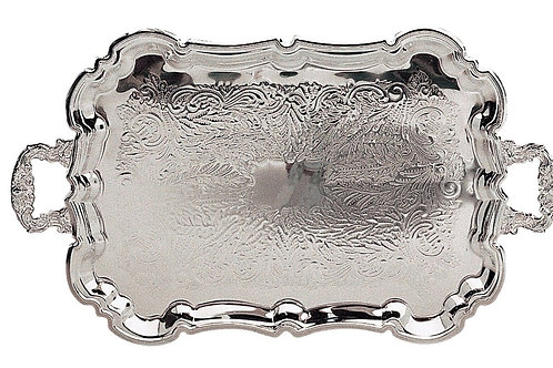 GIFT, FOOTED PRINCESS SILVER SERVING TRAY