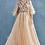 Thumbnail: Gabriela Elegant Beaded Ballgown Detach Feather Cape