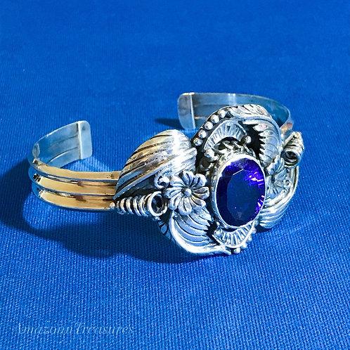 Amethyst Sterling Silver Cuff Bracelet