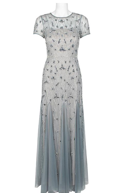 Adrianna Papell Keyhole Back Embellished Dress