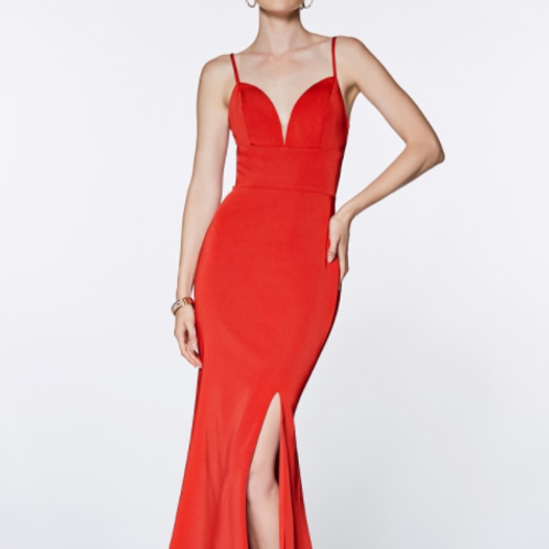 Fitted Sweetheart Neckline Gown
