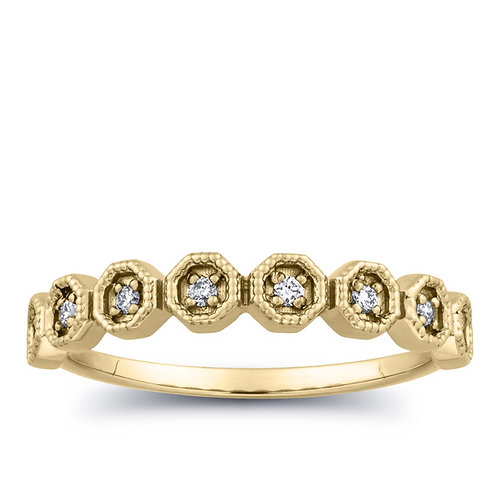 Diamond Prong Anniversary Ring in 10k Gold