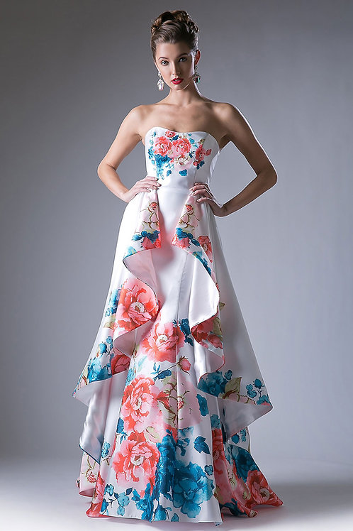 Floral Prom Gown