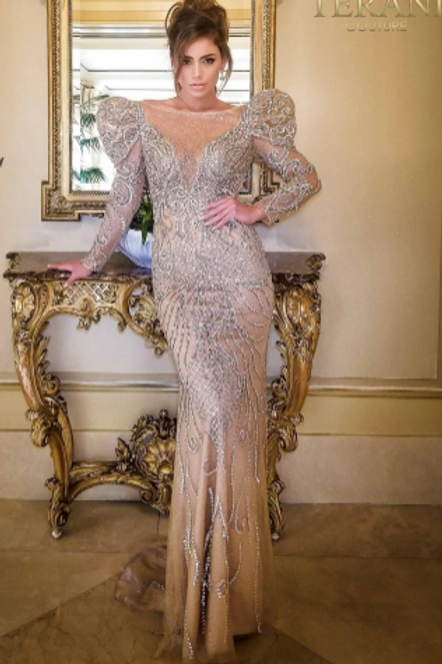 Terani Couture Stunning Beaded Gown