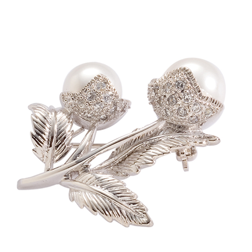 Mignon Manley The Rose Pearl Pin