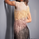 Thumbnail: Jovani 04120 Nude Multi High Neck Fringe Short Dress