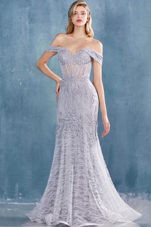Andrea & Leo Off Shoulder Mermaid Gown