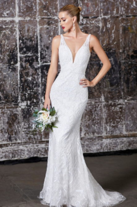 Cinderella Divine Fitted Fully Beaded Bridal Dress