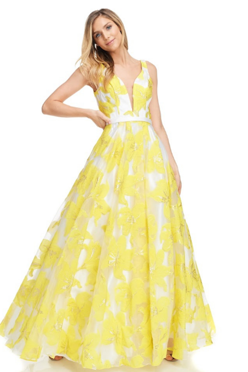 V-Neck Sleeveless A-Line Dress