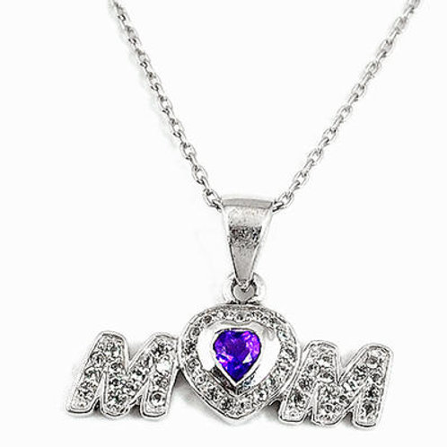 Natural amethyst topaz 925 silver For Mom Necklace