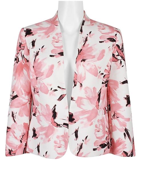 Evan Picone Collared Floral Jacket