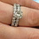 Thumbnail: 4ct Diamond Eternity Engagement Ring Set 14K White Gold (G/H, I1-I2)