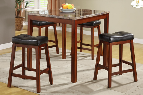 Marble Top 5 Piece Dining Set