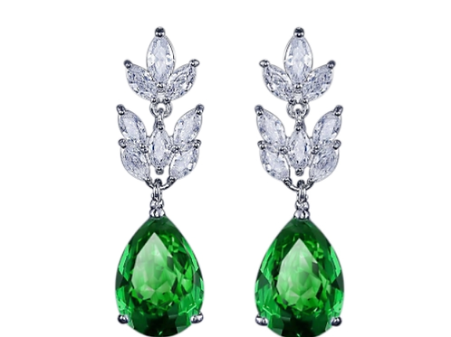 Chic Crystal Emerald Earrings