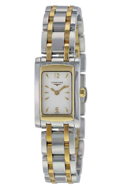LONGINES Dolce Vita White Dial Steel and Yellow Gold PVD Ladies Watch