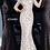 Thumbnail: Jovani 03350 V Neck Fitted Lace Evening Dress