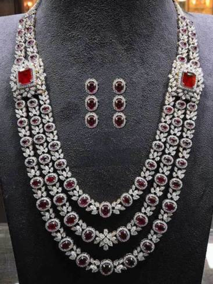 Stunning Rubies Shappire And Topaz Necklace