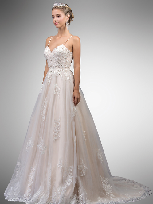 Sweetheart Neckline Lace Top Brical Gown