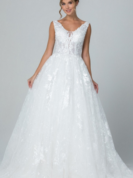 Mignon Manley Embellished Lace Bridal Gown GPW140