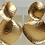 Thumbnail: Kenneth Jay Lane Satin Gold Large Hammered Drop Pierced Earring