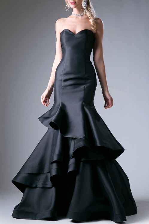 EVENING GOWN - BLACK ANDREA LEO GOWN