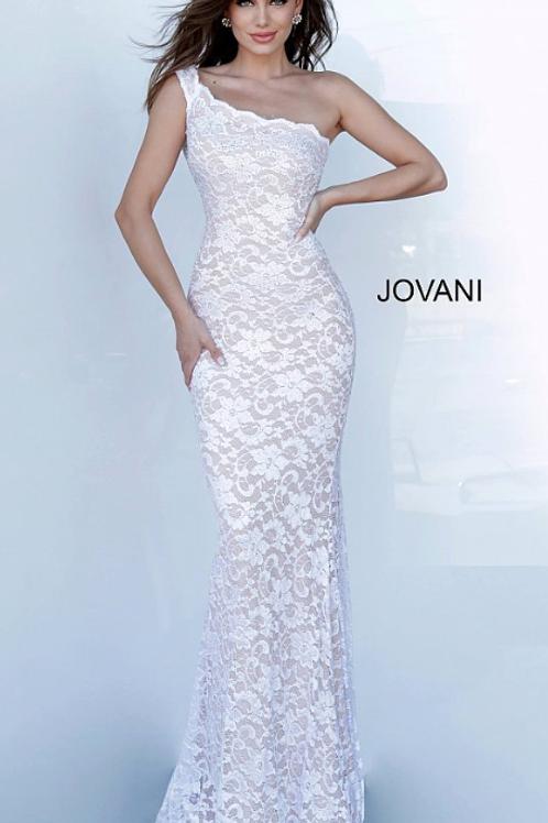 Jovani 02169 Lace One Shoulder Evening Dress