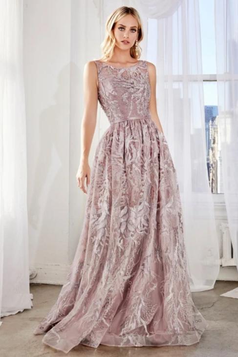 Mignon Manley Design Sleeveless A-Line Shape Open Back Dress