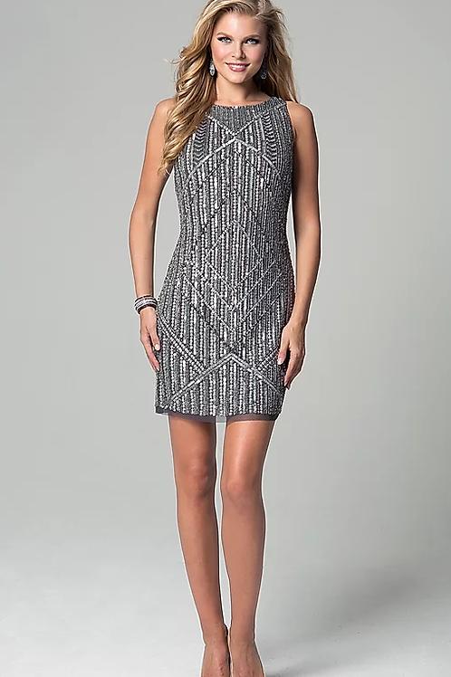 Stunning Sleeveless Geometric embroidery cocktail dress