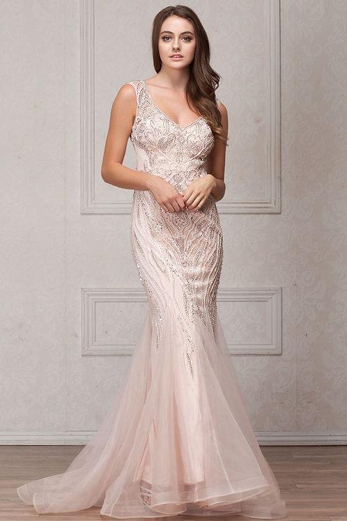Stunning, Elegant Long Evening Dress