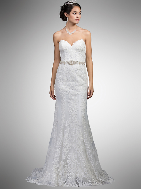 Stunning Lace Gown with Belt