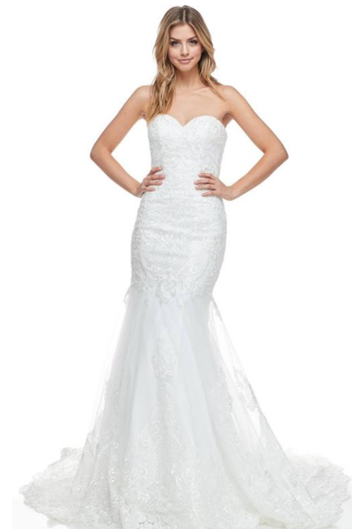 Bridal Tulle Gown Mermaid Embroidery Sequins