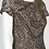 Thumbnail: Adrianna Papell Crew Neck Short Sleeve Bodycon Embellished Mesh Dres
