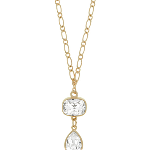 Long Swarovski Crystals Necklace with Pendant